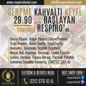 Avcılar Respiro Boutique Hotel Serpme Kahvaltı Keyfi Avcılar Otelleri